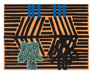 Laws Which Govern Practical Jokes by Jonathan Lasker contemporary artwork painting, works on paper