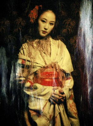 Geisha Yellow by Adam Lach Lunaris contemporary artwork