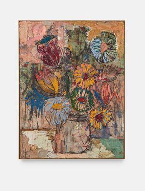 Flowers (yellow, pink, green) by Daniel Crews-Chubb contemporary artwork