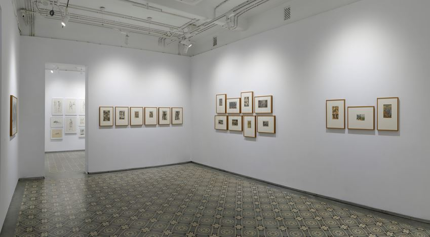 Exhibition view: Krishna Reddy, In Search of Simultaneity, Experimenter (21 August–30 September 2020). Courtesy Experimenter