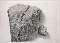 Rock Landscape #2 by Shi Jin-Hua contemporary artwork works on paper, drawing