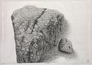 Rock Landscape #2 by Shi Jin-Hua contemporary artwork