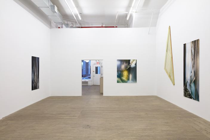 Exhibition view: Group Exhibition,Carla Accardi and Elisa Sighicelli, Andrew Kreps Gallery, 55 Walker Street, New York (4 December 2020–16 January 2021). Courtesy  theArchivio Accardi Sanfilippo, Artist, Andrew Kreps Gallery, New York, Bortolami Gallery, New York, andkaufmann repetto, New York and Milan. Photo: Kristian Laudrup.