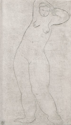 Nude by Sanyu contemporary artwork