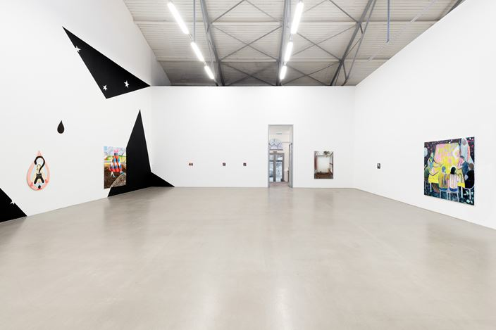 Exhibition view: Group Exhibition,J'aime, je n'aime pas, Galerie EIGEN + ART, Leipzig (29 February–28 March 2020).Courtesy Galerie EIGEN + ART Leipzig/Berlin. Photo: Uwe Walter, Berlin.