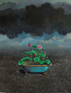 The Lotus Cultivation of the Great Other by Gayan Prageeth contemporary artwork