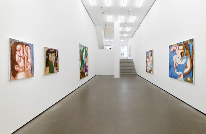 Exhibition view: Kristina Schuldt, Sans Souci, Galerie EIGEN + ART, Berlin (5 November–12 December 2020). Courtesy Galerie EIGEN + ART. Photo: Uwe Walter, Berlin