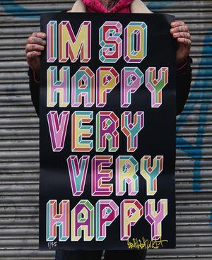 I'm So Happy! by Ben Eine contemporary artwork