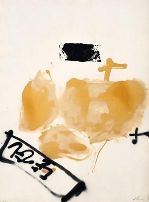 Dues creus by Antoni Tàpies contemporary artwork
