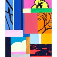 Study for Fragmented Landscape by Dan Baldwin contemporary artwork painting, works on paper