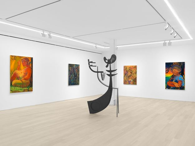 Exhibition view: Group Exhibition,I Want to Eat the Sunset. We're Talking About the Cosmos, Even. And Love, I Guess.?, Almine Rech, New York (10 July–10 August 2020). Courtesy the Artist and Almine Rech. Photo: Dan Bradica.