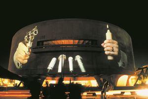 Hirshhorn Museum Projection by Krzysztof Wodiczko contemporary artwork