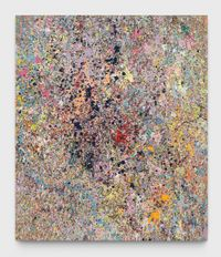 """Leftover Paint Abstraction #1 (70"""" × 60"""") by Jonathan Horowitz contemporary artwork painting"""