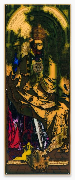De Goddelijkheid - naar het Lam Gods (The Divinity - After the Ghent Altar Piece) by Anne-Mie Van Kerckhoven contemporary artwork