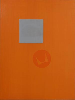 Suprematist Herman Miller by David Diao contemporary artwork