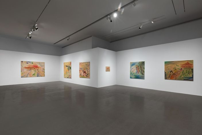 Exhibition view:Sophie von Hellermann, Dream of the Red Chamber, 798 Art Zone, Beijing (23 April–22 May 2021). Courtesy Pilar Corrias.