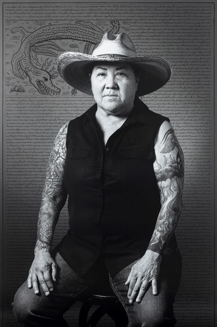 Consuelo Quintana, from Land of Dreams series by Shirin Neshat contemporary artwork
