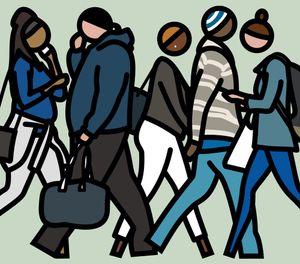 Walking in New York. 7. by Julian Opie contemporary artwork painting