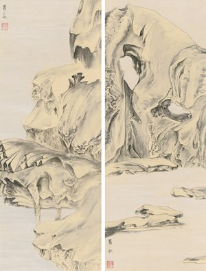 Elegant Offering Series No. 21 and No. 22 by Luo Ying contemporary artwork