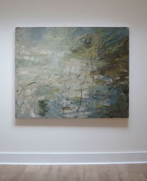The Lake, Reflecting by Louise Balaam contemporary artwork painting, works on paper