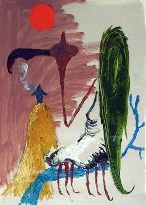 Bird of Bataan 4 by Manuel Ocampo contemporary artwork