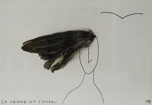 La femme et l'oiseau by Marcel Miracle contemporary artwork