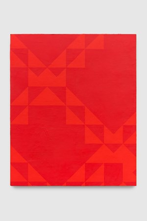 To Be Titled (Naphthol Red) by Mark Hagen contemporary artwork