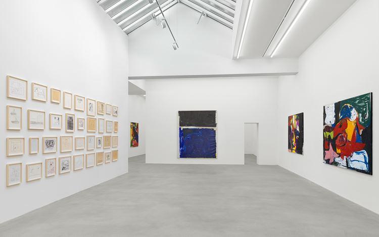 Exhibition view: Joe Bradley, Sub Ek, Galerie Eva Presenhuber, Waldmannstrasse, Zurich, (12 September–31 October 2020). © Joe Bradley. Courtesy the artist and Galerie Eva Presenhuber, Zurich / New York. Photo: Stefan Altenburger Photography, Zurich.
