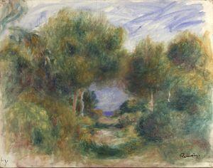 Sortie du bois, mer au fond by Pierre-Auguste Renoir contemporary artwork