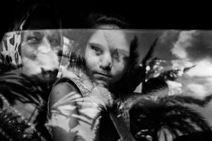 Civilians arrive in Tyre after fleeing their villages in southern Lebanon during Israeli airstrikes, Tyre, Lebanon by Paolo Pellegrin contemporary artwork