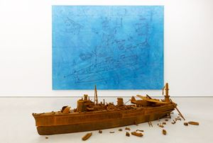 Akitsushima 50・I / II by Yukinori Yanagi contemporary artwork