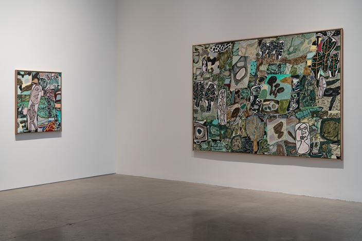 Exhibition view: Jean Dubuffet, Théâtres de mémoire, Pace Gallery, 510 West 25th Street, New York (18 May–29 June 2018). © 2018 Artists Rights Society (ARS), New York / ADAGP, Paris. Courtesy Pace Gallery. Photo: Guy Ben-Ari.