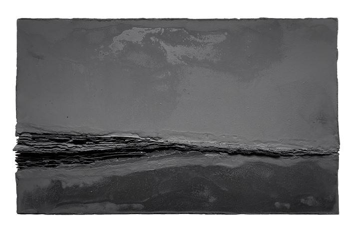 Mahalakshmi Kannappan, The Crevice I, (2020). Charcoal on Wood, 90 x 150cm. Courtesy Gajah Gallery.