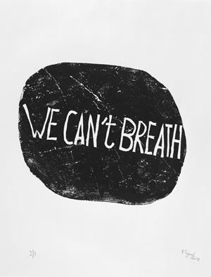 We Can't Breath by Barthélémy Toguo contemporary artwork