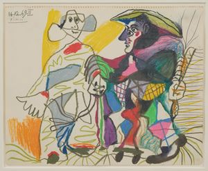 Pierrot et Arlequin by Pablo Picasso contemporary artwork