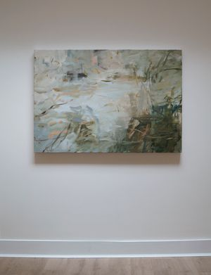 Looking into the Water, Soft Day by Louise Balaam contemporary artwork painting, works on paper