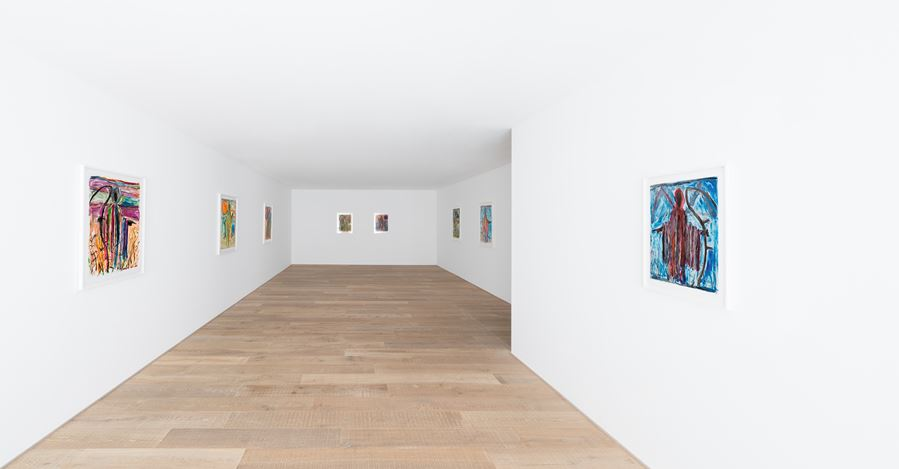 Exhibition view: Josh Smith, Finding Emo, Xavier Hufkens, 107 rue St-Georges, Brussels (7 June–13 July 2019). Courtesy the Artist and Xavier Hufkens, Brussels. Photo:Allard Bovenberg, Amsterdam.