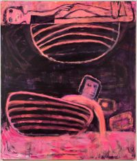 Tub Under Planet by Katherine Bradford contemporary artwork painting