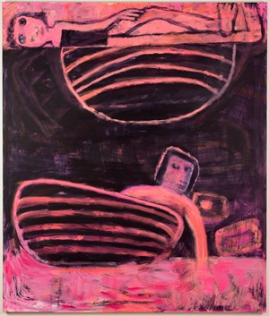 Tub Under Planet by Katherine Bradford contemporary artwork