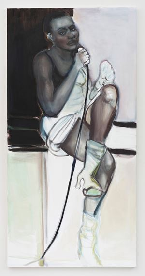 The Performer (Portrait of Romana Vrede) by Marlene Dumas contemporary artwork