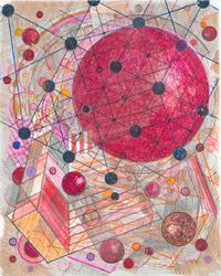 Le Relais Du Postillon Playground Red by Robert Reed contemporary artwork works on paper