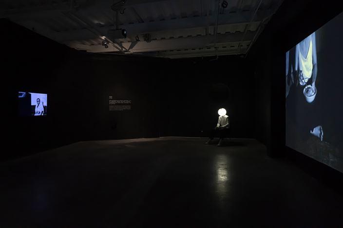 Exhibition view: Chen Dandizi, Qin Jin, Lin Yuqi,Under the Sign of Saturn,ShanghART, M50, Shanghai (25 October 2020–10 January 2021). Courtesy ShanghART. Photos: Alessandro Wang.