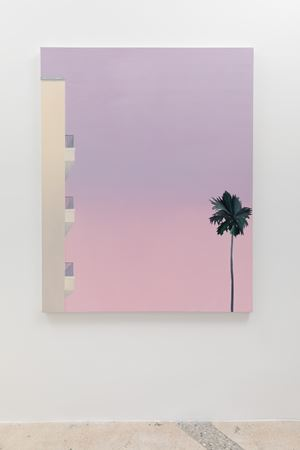 Palms and building by Alec Egan contemporary artwork