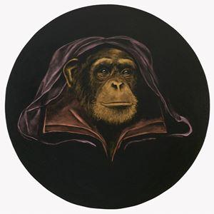 Le Singe Peintre XXIII by Stefan à Wengen contemporary artwork
