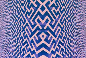 Maze Pink Blue by Xu Qu contemporary artwork