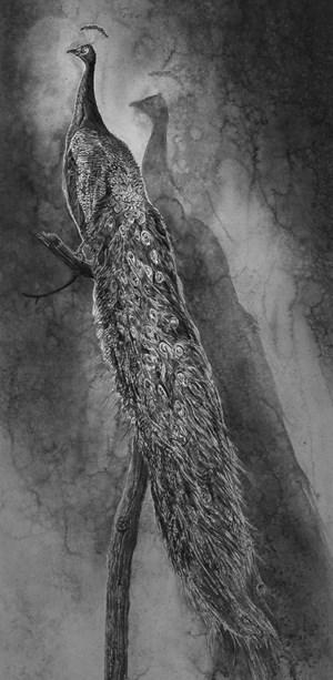 Peacock by Hans Op de Beeck contemporary artwork