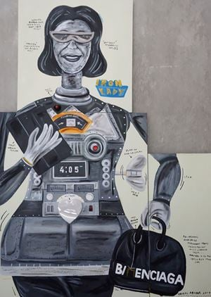 Iron Lady (female robot) by Naufal Abshar contemporary artwork