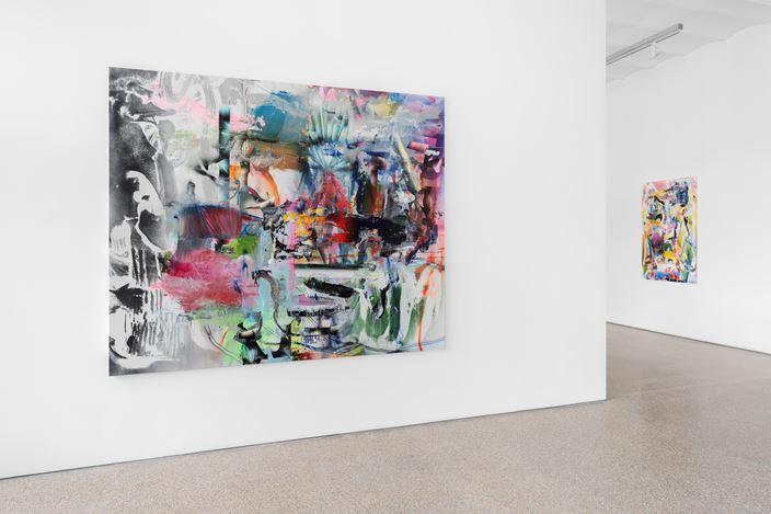 Exhibition view: Liam Everett, Steel your face right off your head, Galerie Greta Meert, Brussels (3 September–17 October 2020).Courtesy Galerie Greta Meert.