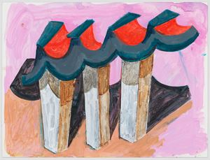 untitled: ceremonial monument; 2020 by Phyllida Barlow contemporary artwork