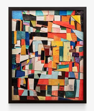 Surfaces: Untitled, after Sonia Delaunay by Vik Muniz contemporary artwork